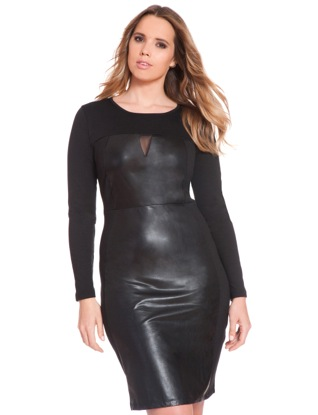 eloquii faux leather dress